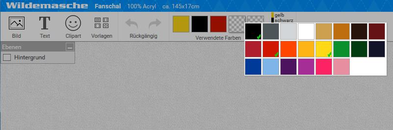Online Designer Farben wählen