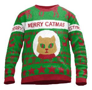 DIY Weihnachstspullover Merry Catmas