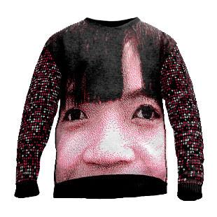 Pullover Design Haar & Nase