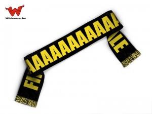 Fanschal Finale schwarz gelb